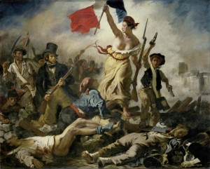 Liberty Leading the People by Eugene Delacroix is a symbol of the French Republic