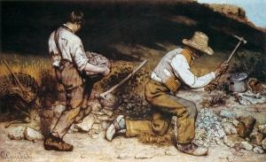 The Stone Breakers by Gustave Courbet is an expression of poverty